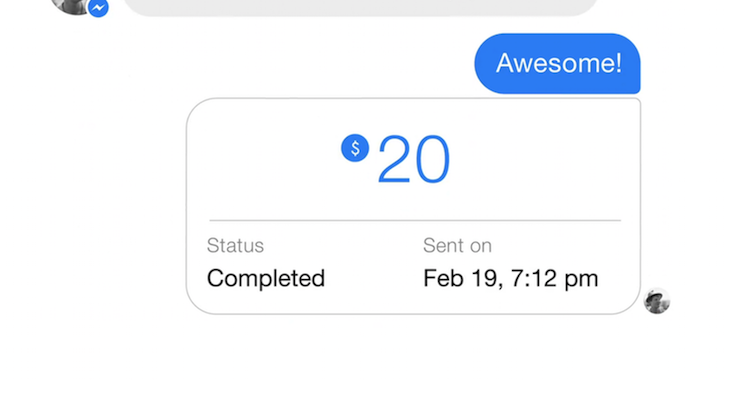 Facebook-Messenger-payment-completed