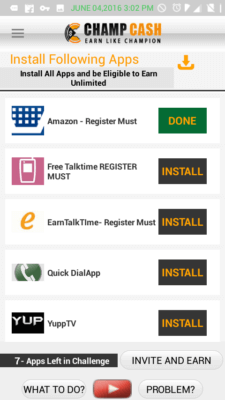 champcash install apps